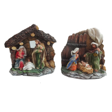 New One Piece Polyresin Personalized Christmas Nativity Set Ornaments Scene Home Decoration
