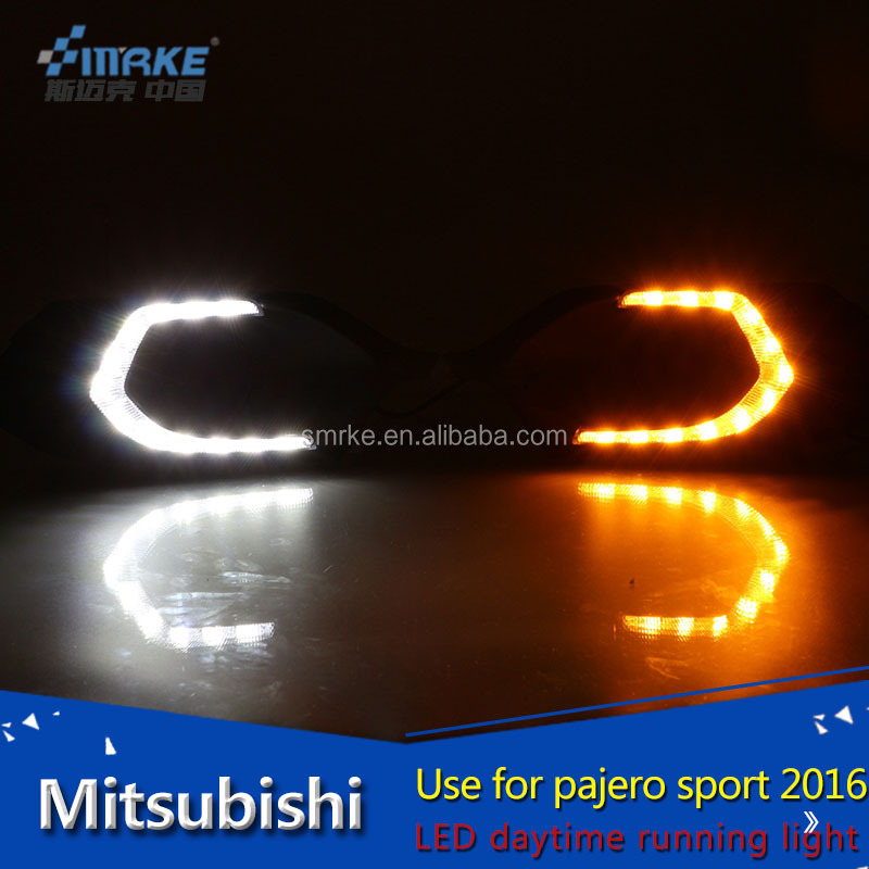 lighting accessories for car mitsubishi montero pajero sport led daytime running light 2016 DRL fog lamp