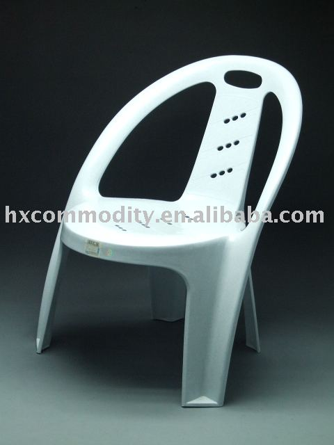 High back plastic chair with arms