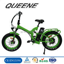 Beach cruiser Foldable Electric Bike, 500w 1000w Fat Tire Folding E bike 2017