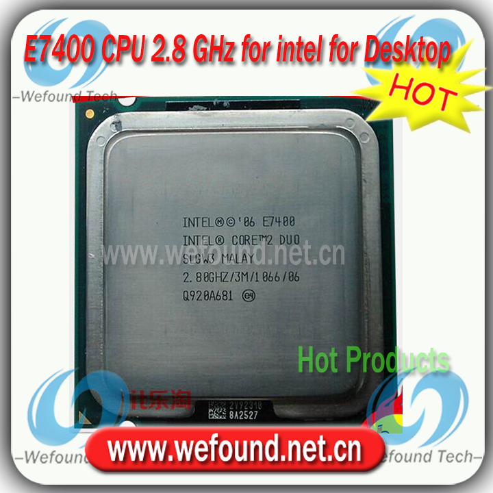 Original for Intel Core2 DUO E7400 Processor 2.80 GHz /3MB Cache/Socket LGA 775 / Desktop E7400 CPU