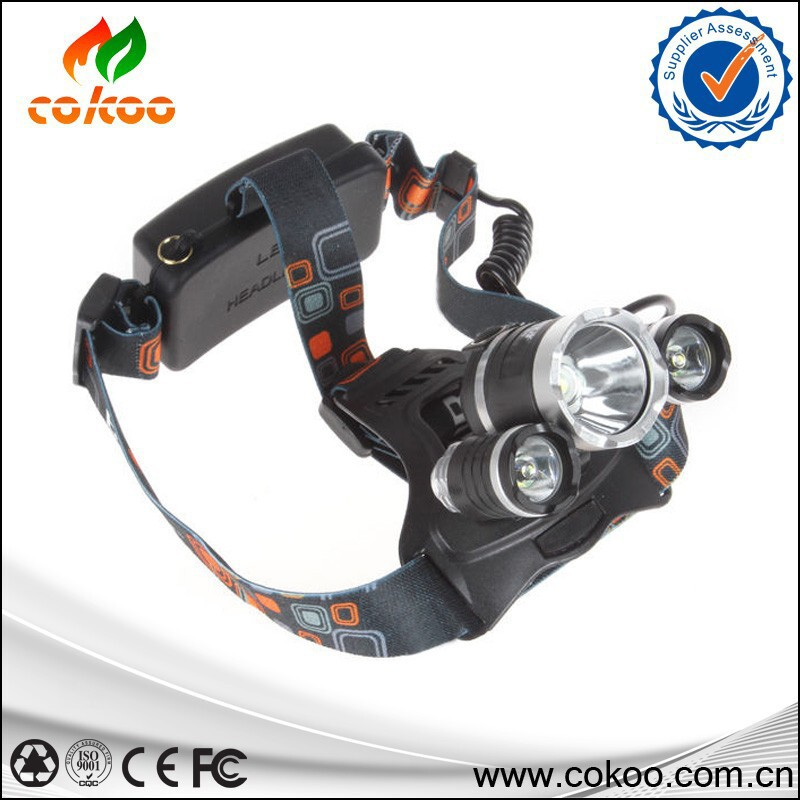3T6 Headlamp 6000 Lumens T6 Head Lamp High Power LED Headlamp Head Torch Lamp Flashlight Head +charger+car charger