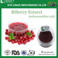 Anthocyanidins 25% from pure bilberry Extract in powder form