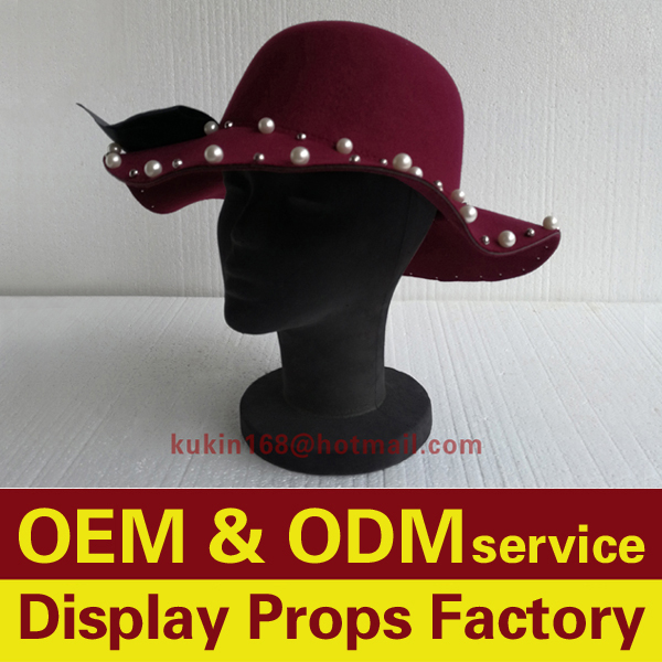 Hats display head, Foam head mannequin, Female head models