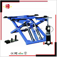 Portable hydraulic outdoor scissor car lift with CE