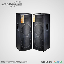 2017 China professional high-power 300W dual 15 inch speaker with Radiator USB FM Microphone input, Sound Console