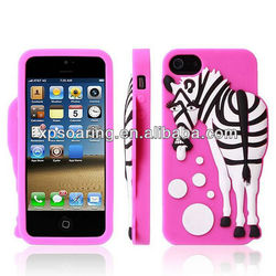 Zebra animal silicone case soft cover for iphone 5G 5S