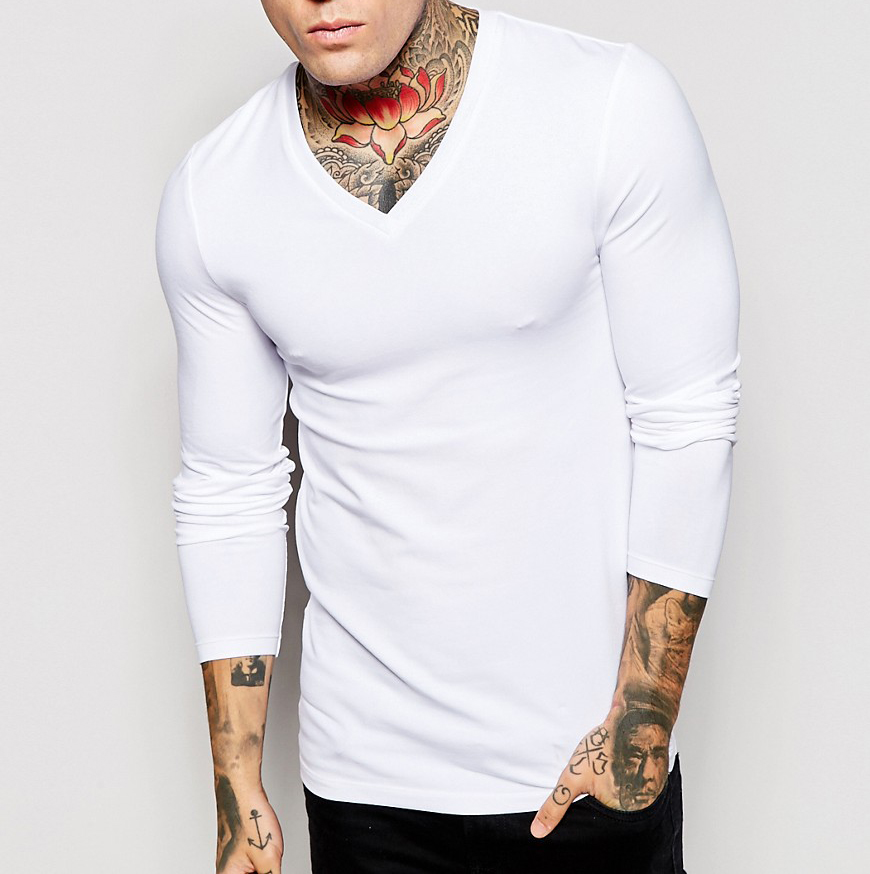 Shopping online india men 39 s clothes v neck long sleeve for Online shopping mens shirts