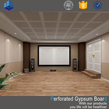 Customized Acoustic Perforated Gypsum Ceiling tiles with sound absorbing