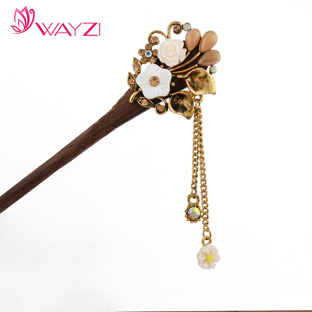 New arrival wood hairpin jewelry sets