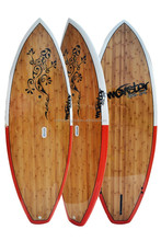 8' double bamboo design SUP board with customer logo and graphic