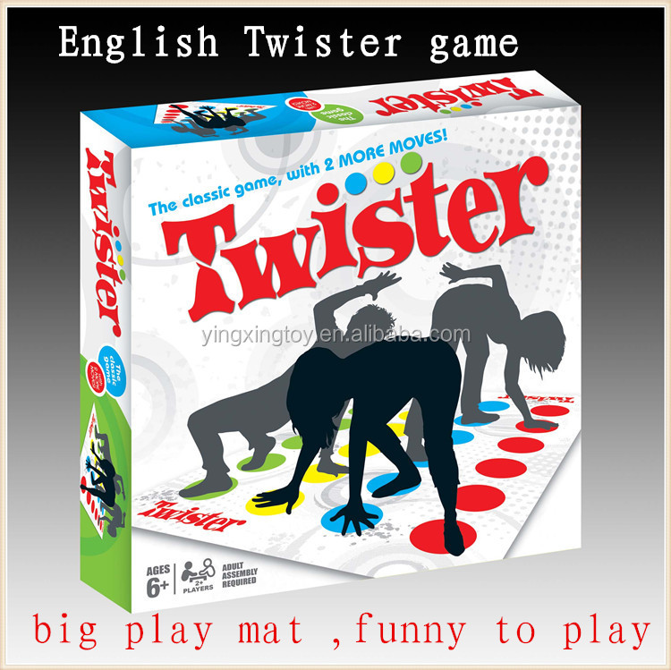 hot sell outdoor toys family game big larger twister game for adults
