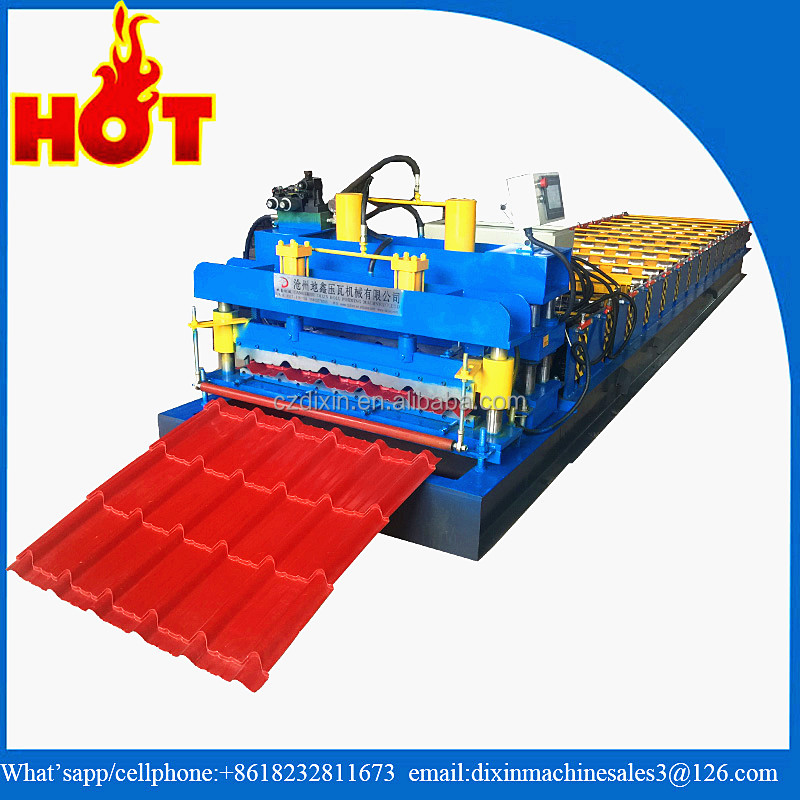 Corrugated metal iron prepainted galvalume long span roof sheet aluminium profile cutting machine