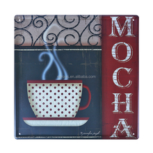 Mocha Wholesale Embossed Wall Hanging Decor Metal Signs Vintage