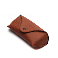 Newest frame eyeglass case fashion folding portable leather cheap custom wholesale eyeglass case