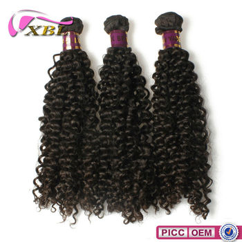 100% Virgin Raw Unprocesse Machine Made Cheap kinky Curly Hair Weft