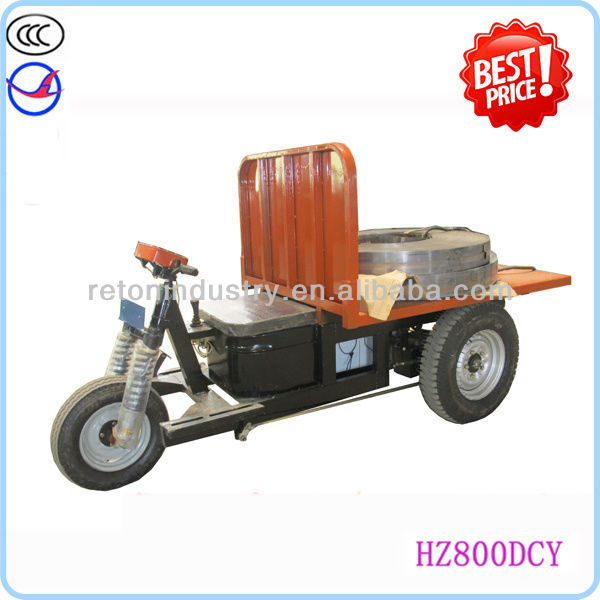 1300W low-speed battery drived rickshaw for brick kiln transportation