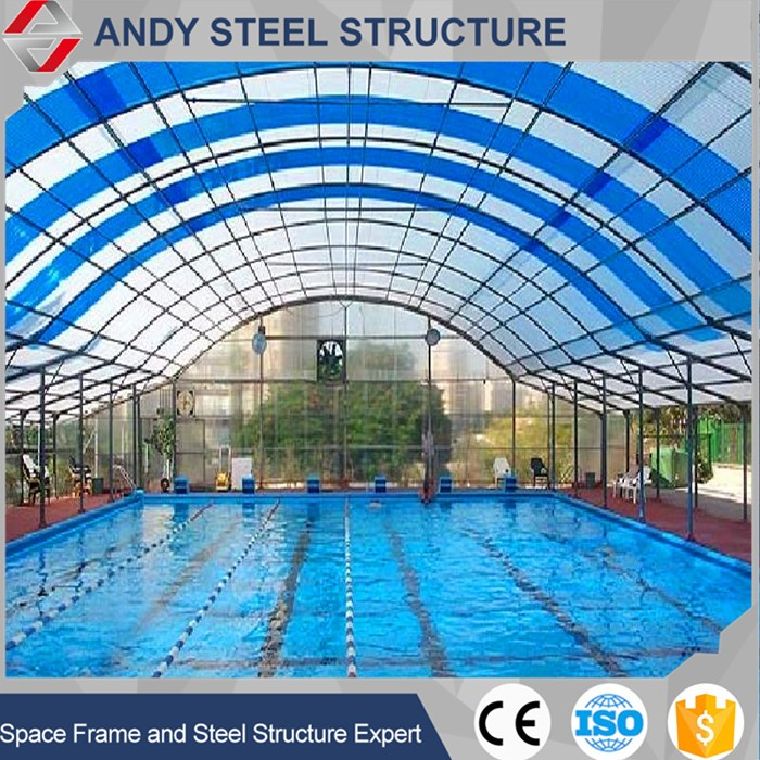 High Quality Steel Structure Swimming Pool Roof, Swimming Pool Cover