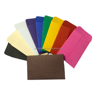 custom size colorful CMYK printed logo paper pocket small coin paper envelope