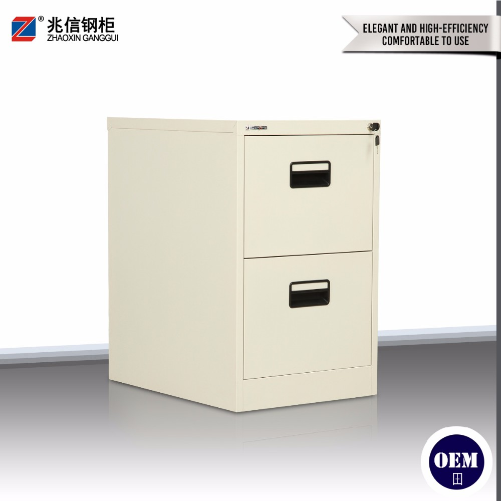 Colorful key lock office a4 filing storage 2 drawer steel file cabinet