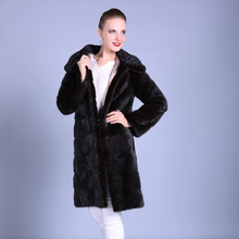 2018 Fashion New Style Wholesale Custom Ladies Genuine Fur Coat / Sex Women Winter Natural Real Mink Fur Coat