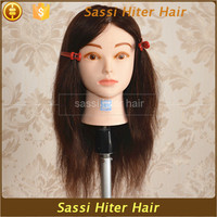 100% Human Hair Mannequin Head In Stock For Sale Long Hair For Salons