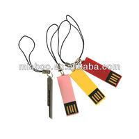 Hot selling!Smallest mini usb flash drive 2gb memory stick usb 2.0 driver,mini usb with key chain in low cost for gift