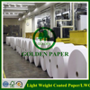 48gsm 50gsm LWC paper light weight paper in sheet or roll