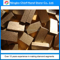 2015 hot type diamond segment for granite/sandstone/marble/lava made in china