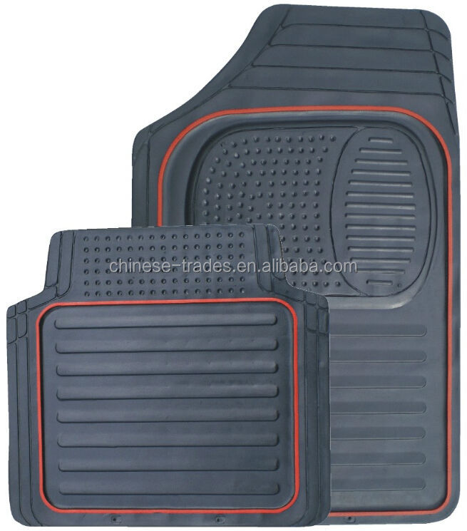 Red line Rubber Car Mats