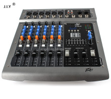 J.I.Y 6 channels powered dj mixer console with USB MP3 48V phantom digital audio mixer console