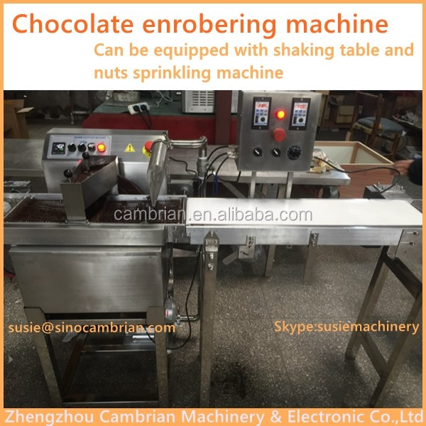 CE approval chocolate enrobing/coating/glazing machine with low price