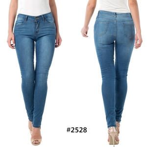 wholesale fancy washes skinny denim fabrics ladies jeans top design Colombian Brazilian butt lift push up women jeans
