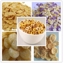 Inflating puff crispy rice corn flakes making machine