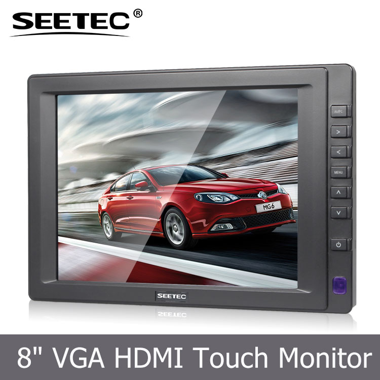 8 inch industry 4-Wire Resistive touch monitor high quality new color LCD Panel high contrast 800:<strong>1</strong> best lcd display