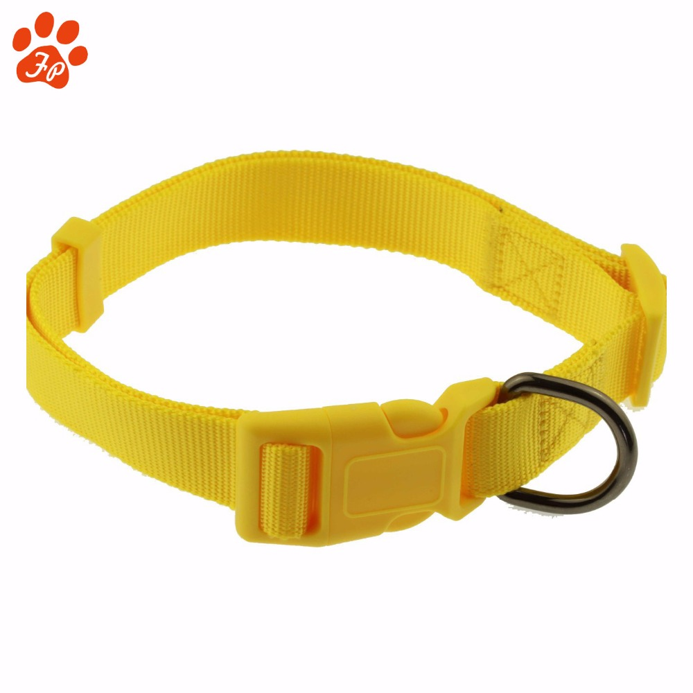 Customized Soft durable Coated Nylon Webbing Dog Collar with elastic belt