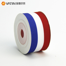 Luxury New Design Red White and Blue Striped Flag Grosgrain Ribbon for 2018 Football World Russia Cup