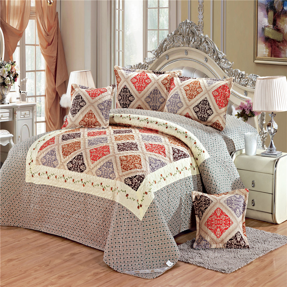 china textile 75g printed fleece comforter sets bedding