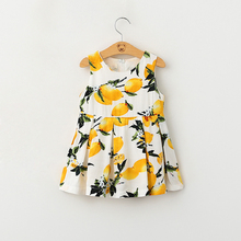 New fashion wholesale small colorful floral print beach dress for girls