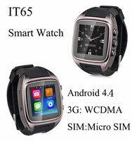 "2015 Best Smart Watch 1.54"" SIM+GPS+WiFi+3G+BT+Google Play all in one Waterproof Android Smart Watch Smart Watch Mobile Phone"