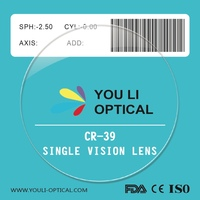 High Quality Stock Optical Lens Envelope and Glasses Yellow Lens