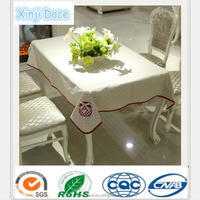 Hot sale big bamboo overlay fabric table cloth china factory