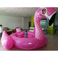 Inflatable water island huge floats 6 persons flamingo party bird island