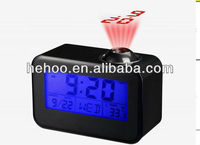 alarm clock with adjustable backlight projector alarm clock ,blue backlight