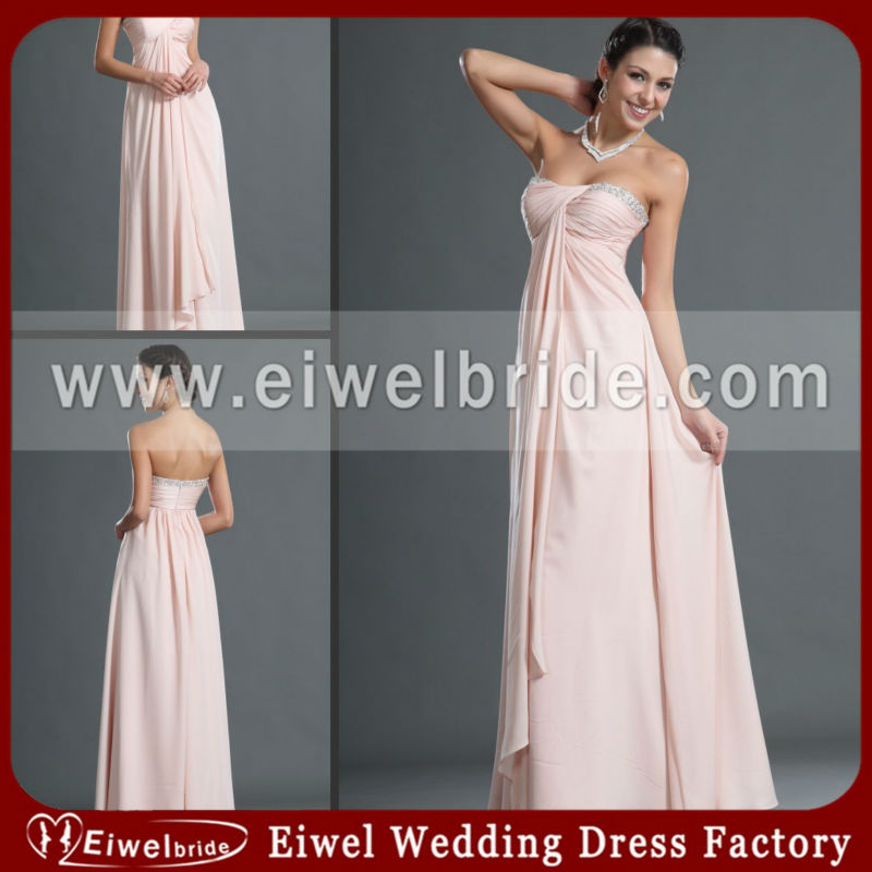 6753 Attractive Strapless Aline Light Pink Mother of the Bride Dress