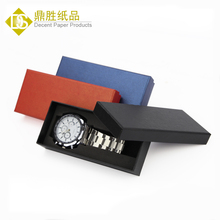 Wholesale Cheap Black Blue Red Cardboard Paper Watch Box Foam Insert