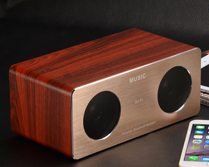 Shenzhen New products 2017 hot sell wooden bluetooth speaker box in China