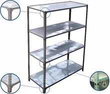 jinan jiutong slotted angle steel light duty shelving system