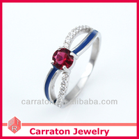 latest model fashion aa cz antique garnet rings