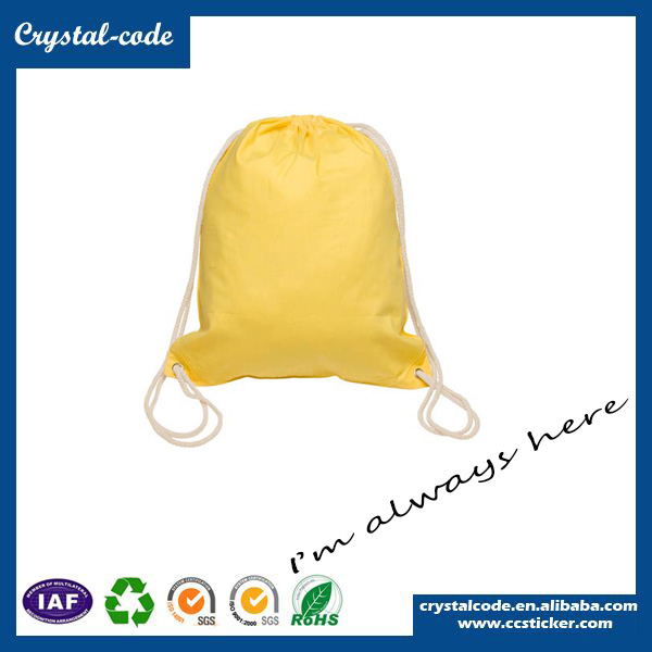 High Cost-effective Blank Canvas Tote Drawstring Bag